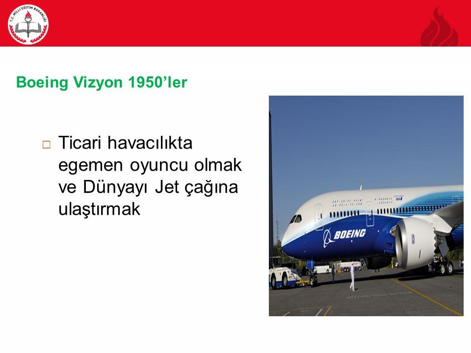 Boeing Vizyon 1950'ler Ticari havacılıkta egemen oyuncu olmak ve Dünyayı Jet çağına ulaştırmak
