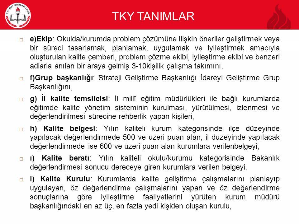 TKY TANIMLAR