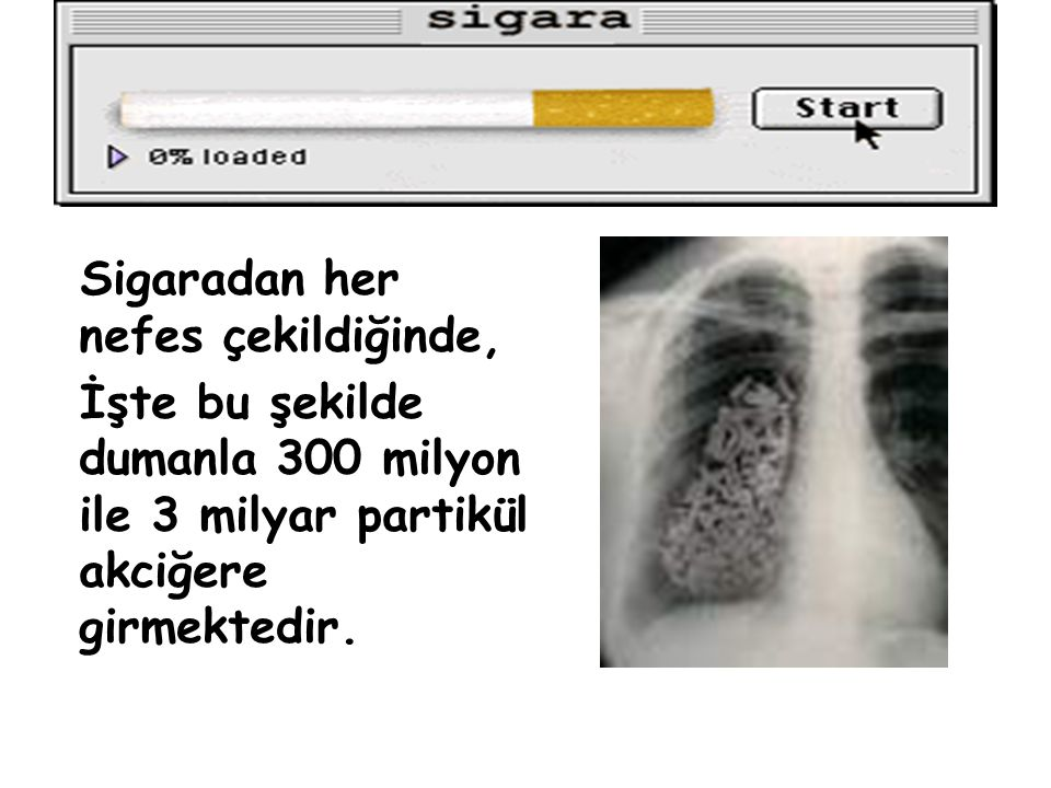 Sigaradan her nefes çekildiğinde,