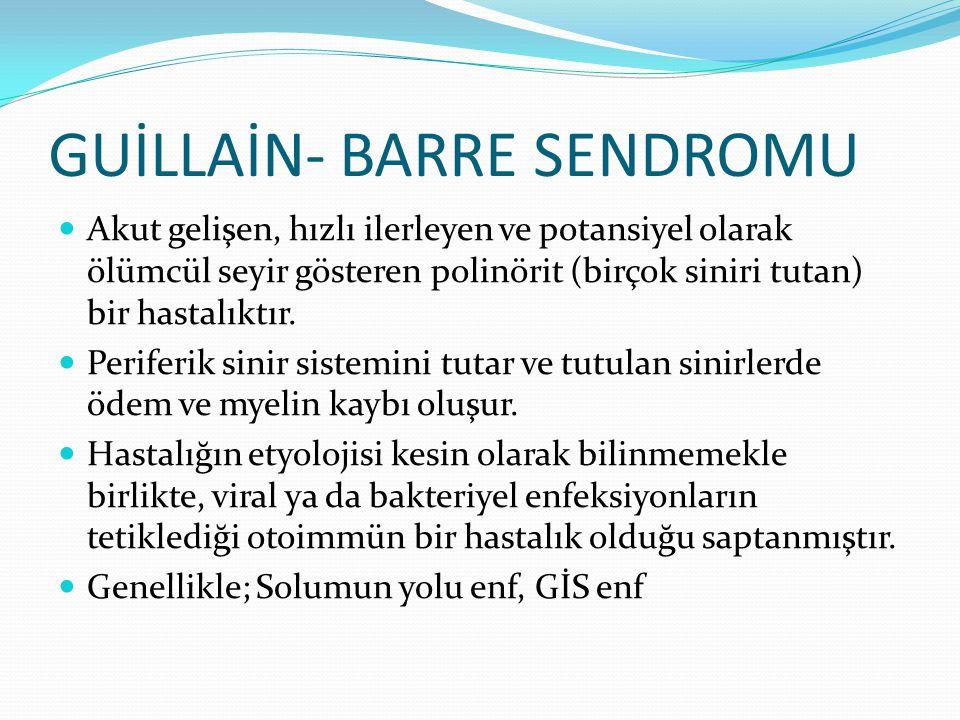 GUİLLAİN- BARRE SENDROMU