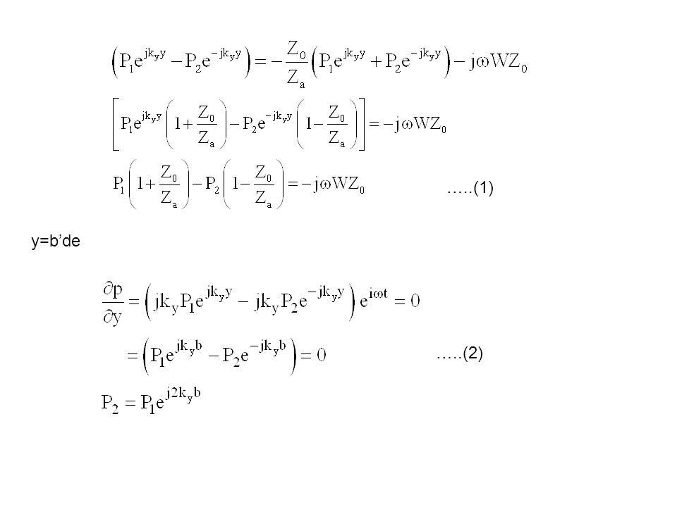 …..(1) y=b'de …..(2)
