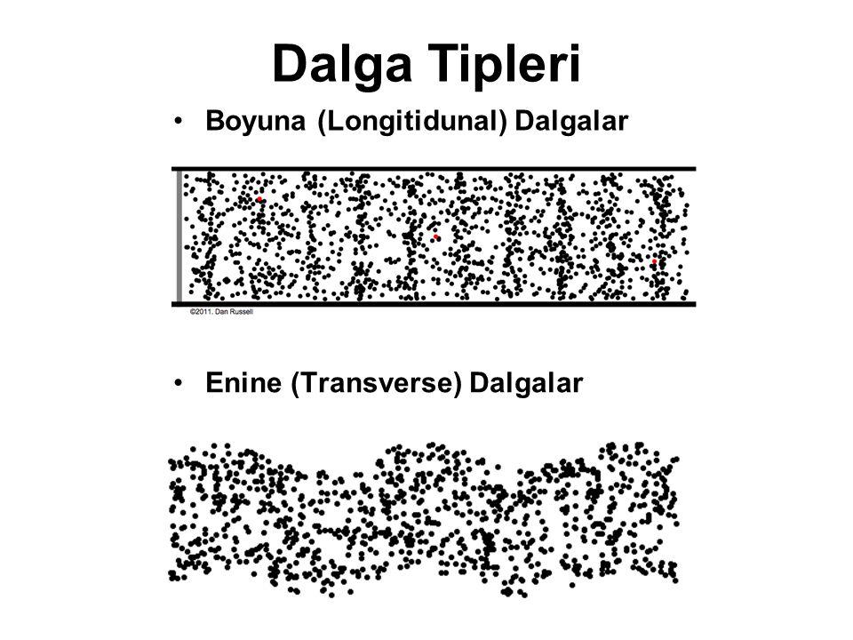 Dalga Tipleri Boyuna (Longitidunal) Dalgalar