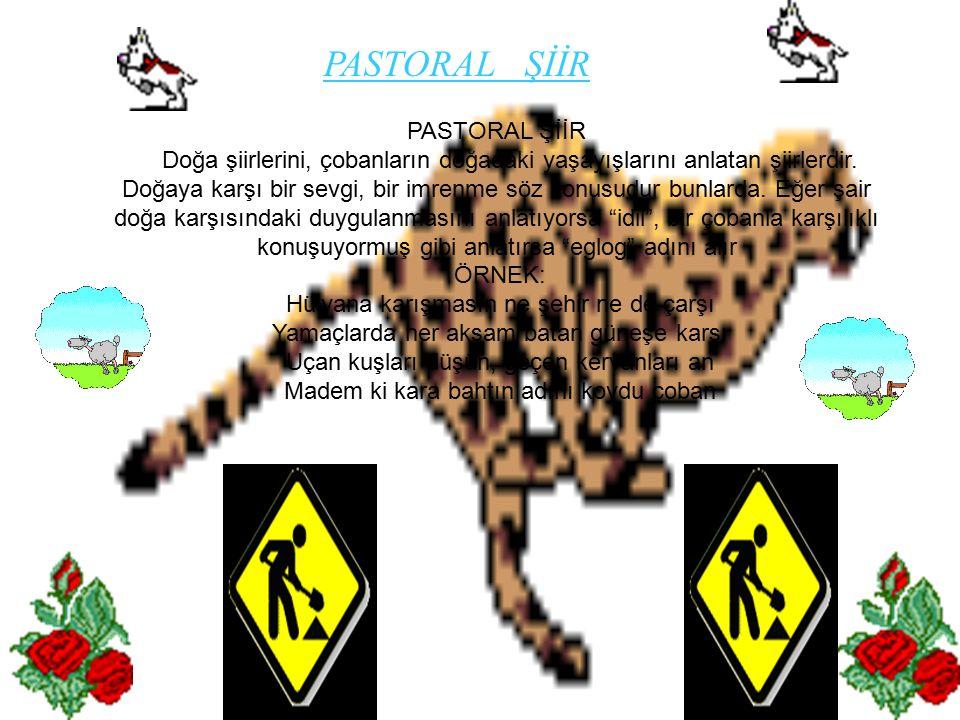 PASTORAL ŞİİR PASTORAL ŞİİR