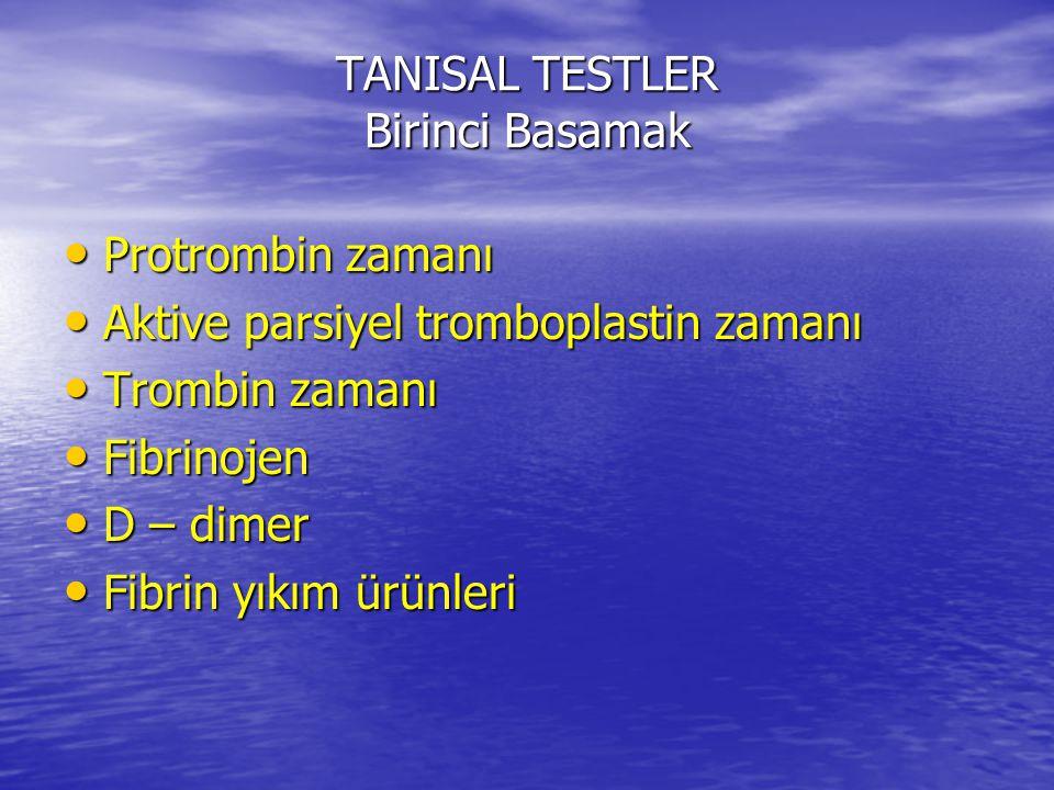 TANISAL TESTLER Birinci Basamak