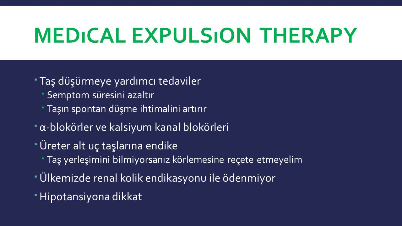 Medıcal Expulsıon Therapy