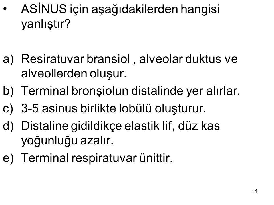 ASİNUS için aşağıdakilerden hangisi yanlıştır