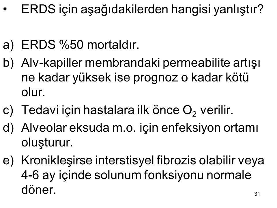 ERDS için aşağıdakilerden hangisi yanlıştır