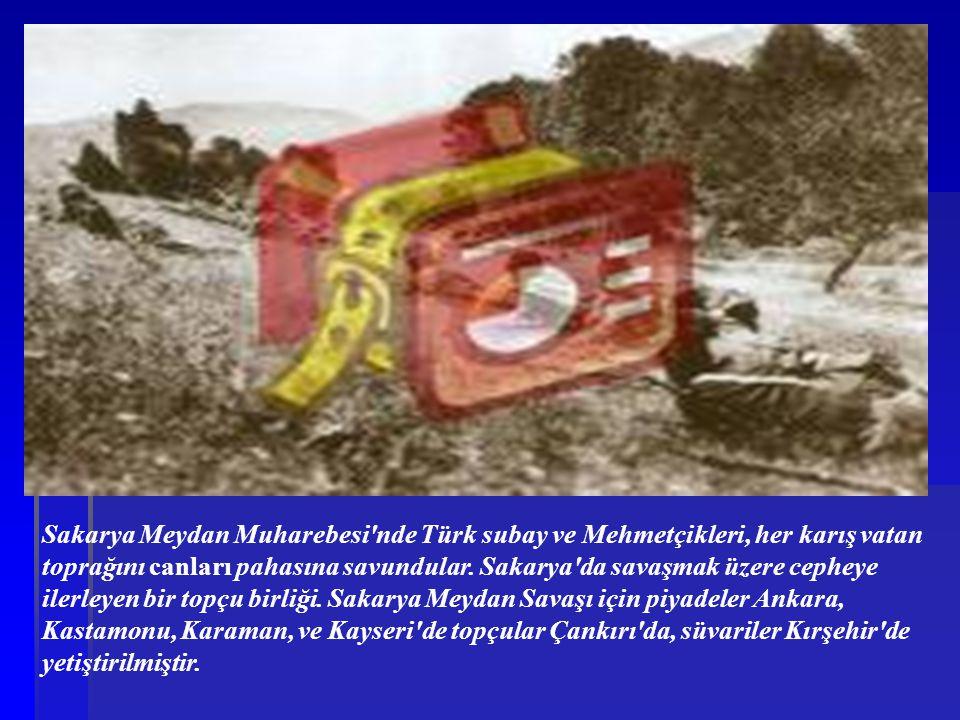 Sakarya Meydan Muharebesi nde Türk subay ve Mehmetçikleri, her karış vatan toprağını canları pahasına savundular.