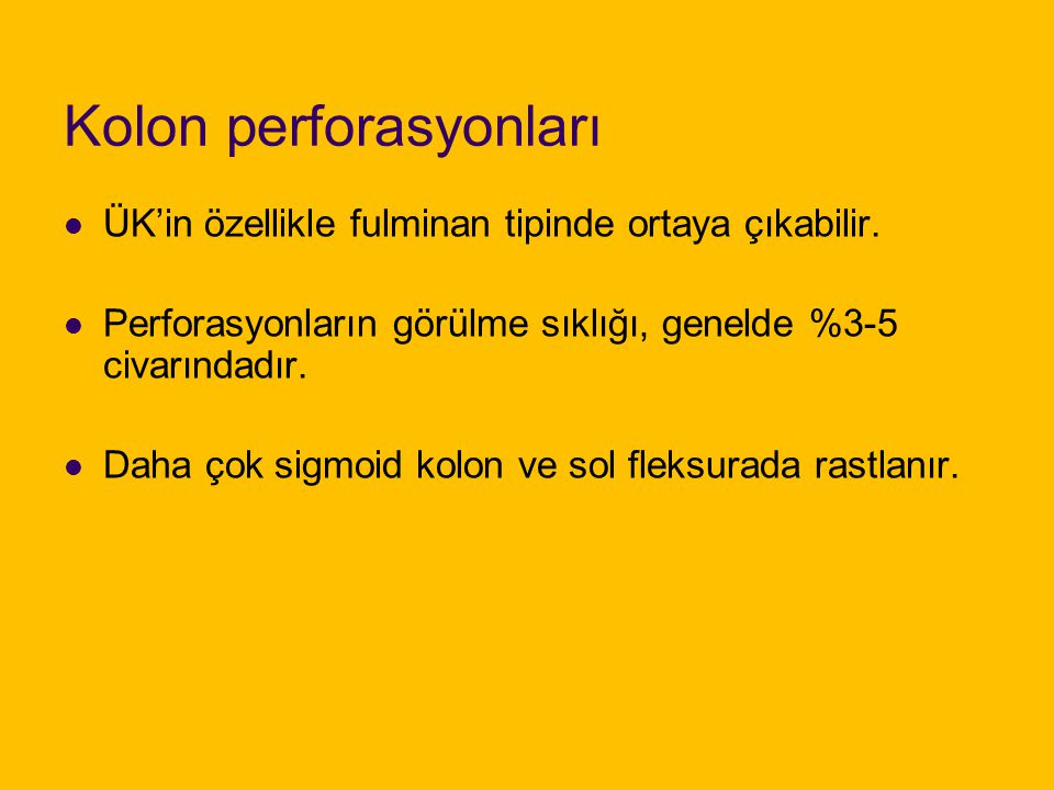 Kolon perforasyonları
