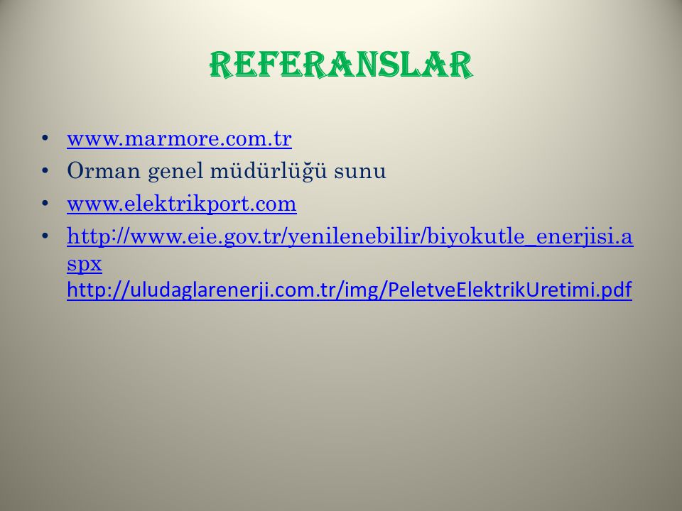 REFERANSLAR www.marmore.com.tr Orman genel müdürlüğü sunu