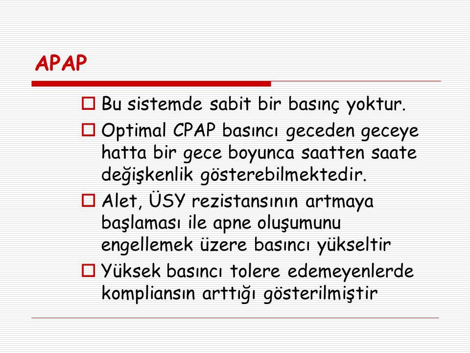 APAP Bu sistemde sabit bir basınç yoktur.