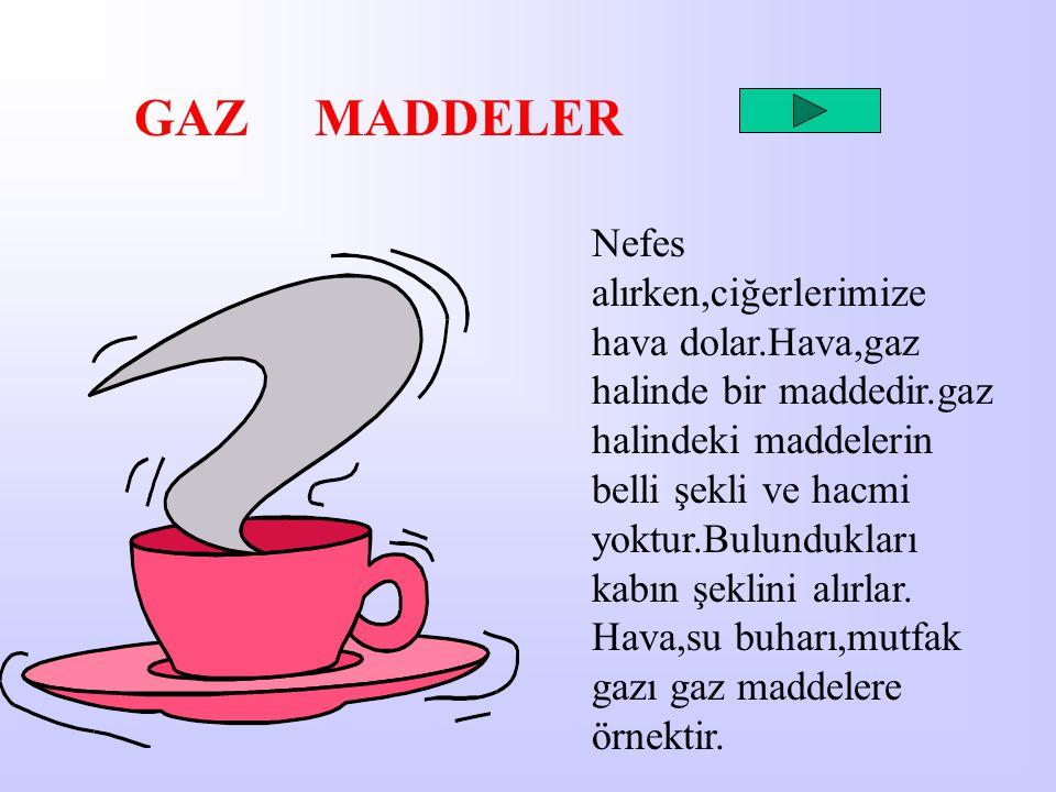 GAZ MADDELER