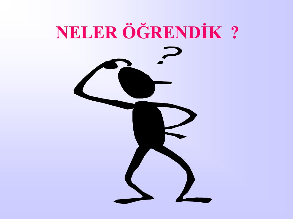 NELER ÖĞRENDİK