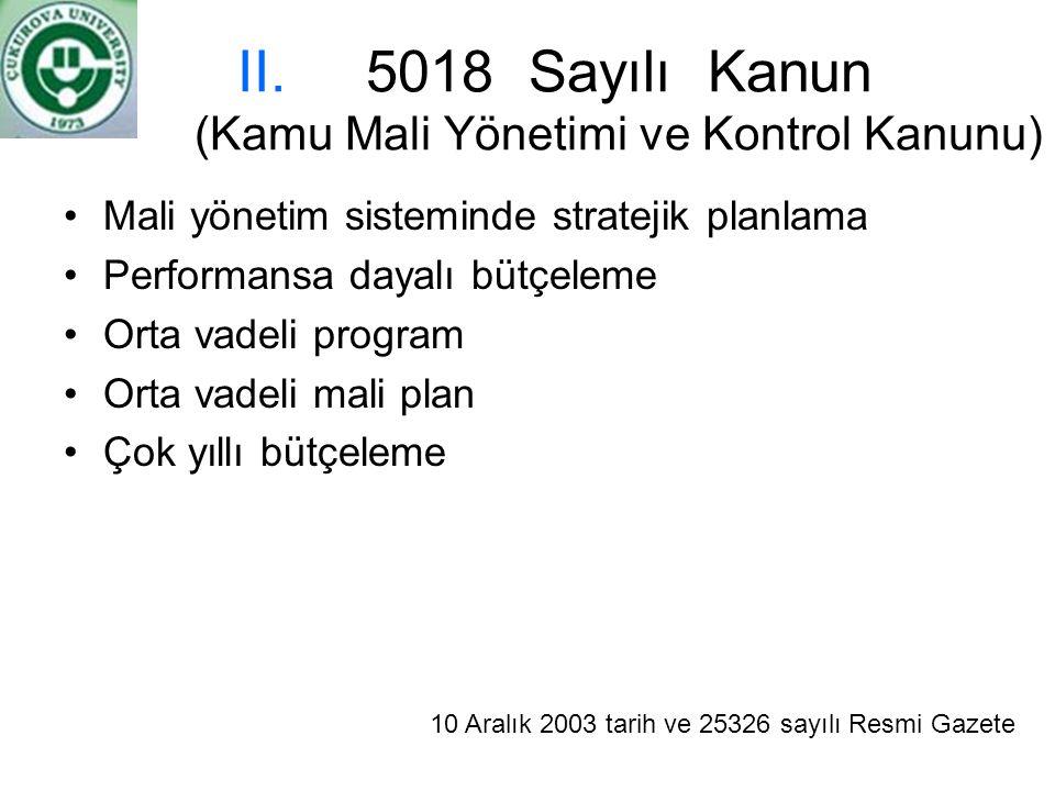 5018 Sayılı Kanun (Kamu Mali Yönetimi ve Kontrol Kanunu)