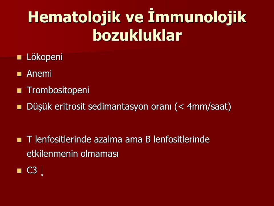 Hematolojik ve İmmunolojik bozukluklar