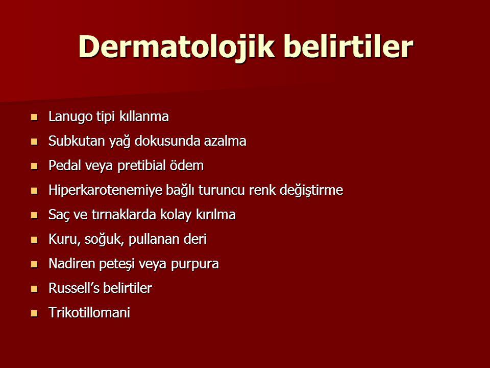 Dermatolojik belirtiler