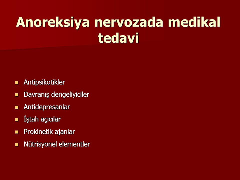 Anoreksiya nervozada medikal tedavi