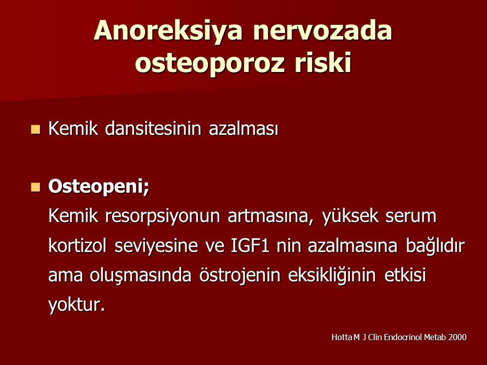 Anoreksiya nervozada osteoporoz riski