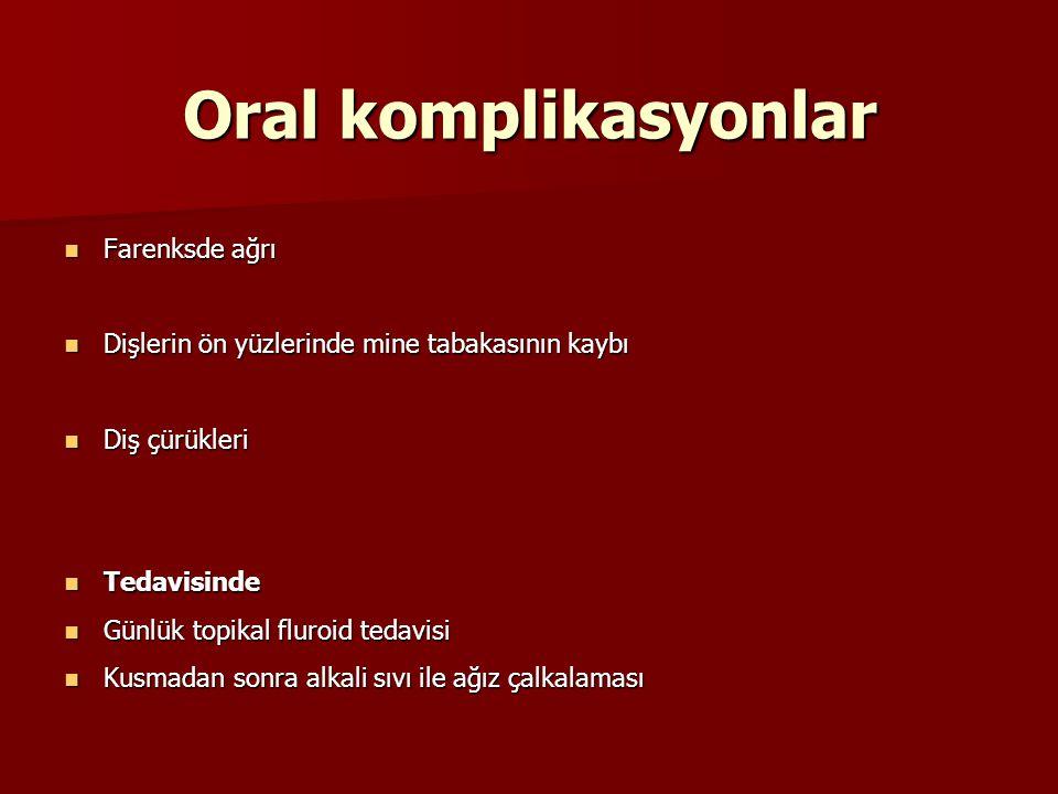 Oral komplikasyonlar Farenksde ağrı