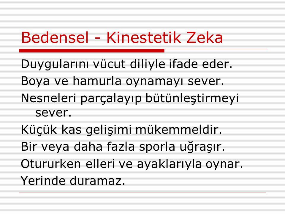 Bedensel - Kinestetik Zeka