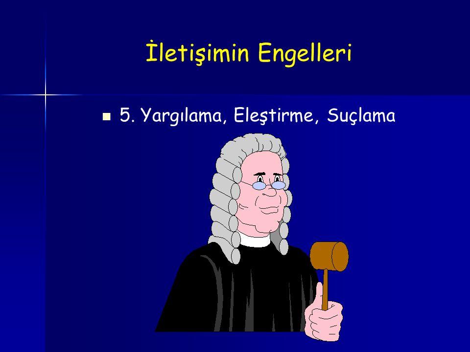 5. Yargılama, Eleştirme, Suçlama