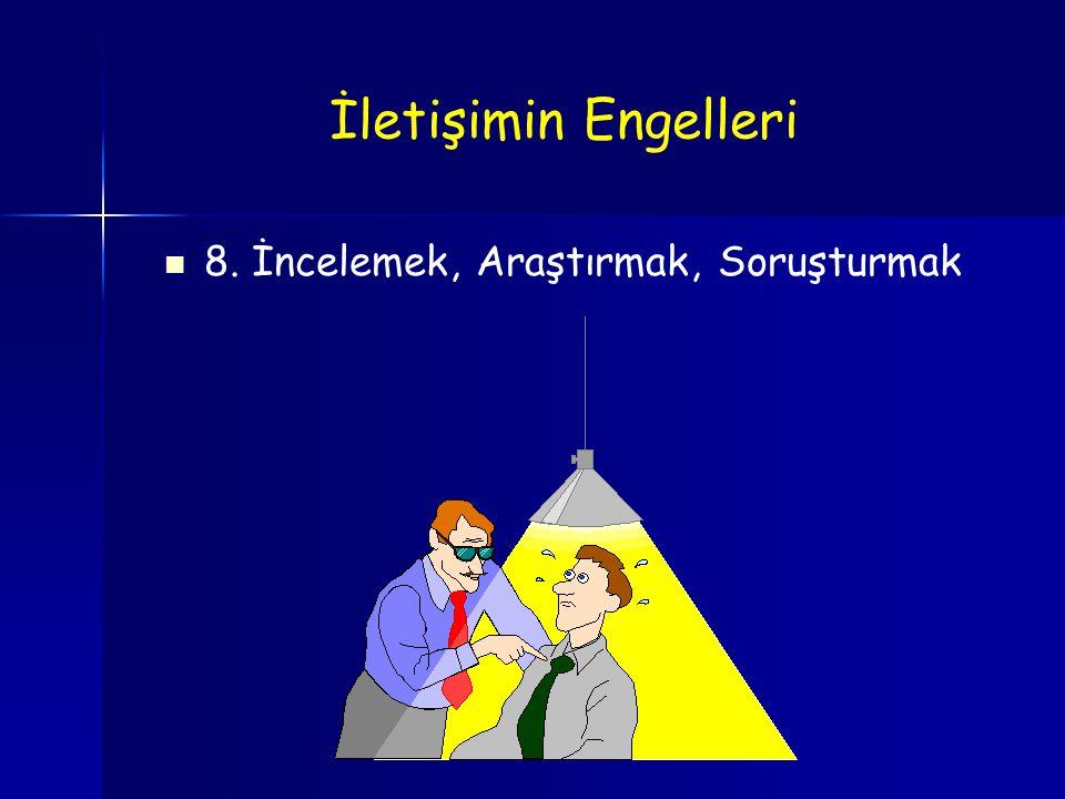 8. İncelemek, Araştırmak, Soruşturmak