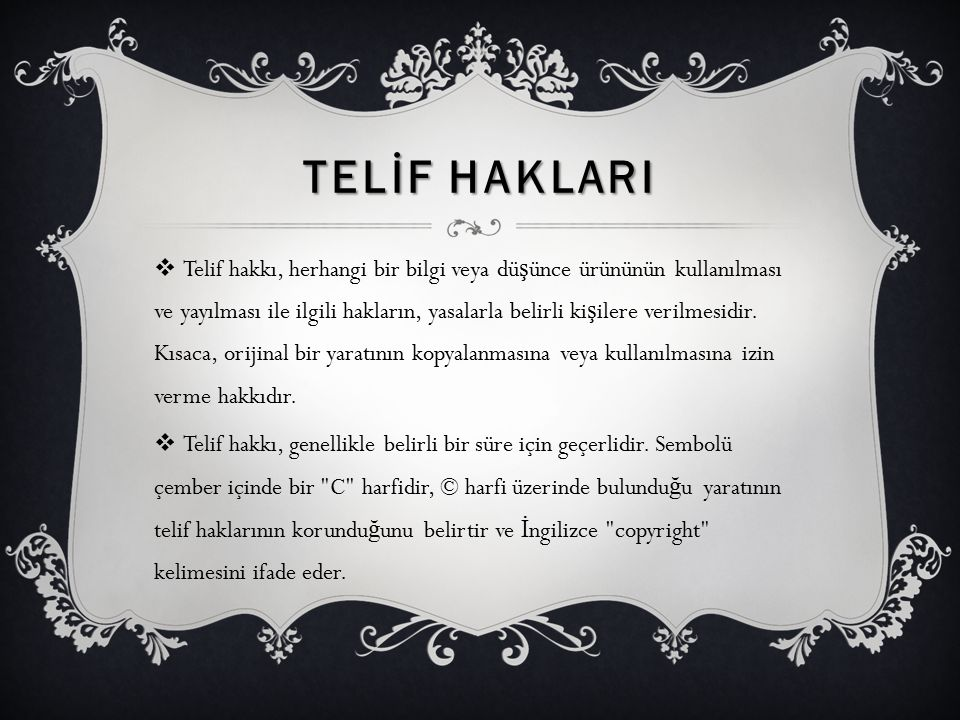 TELİF HAKLARI