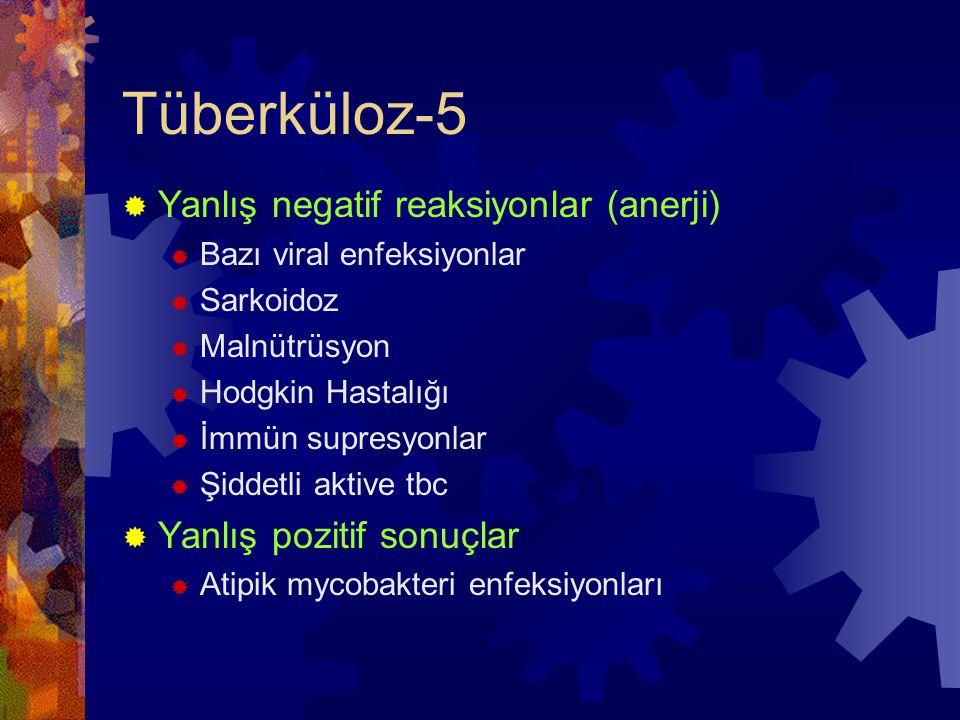 Tüberküloz-5 Yanlış negatif reaksiyonlar (anerji)