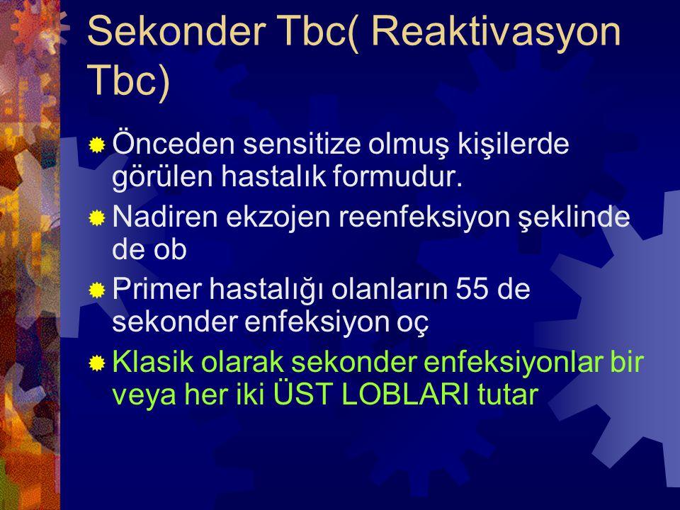 Sekonder Tbc( Reaktivasyon Tbc)
