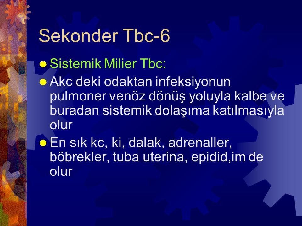 Sekonder Tbc-6 Sistemik Milier Tbc:
