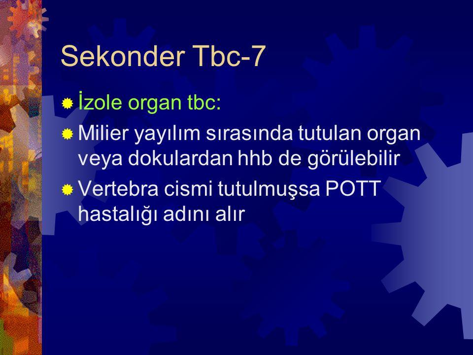 Sekonder Tbc-7 İzole organ tbc: