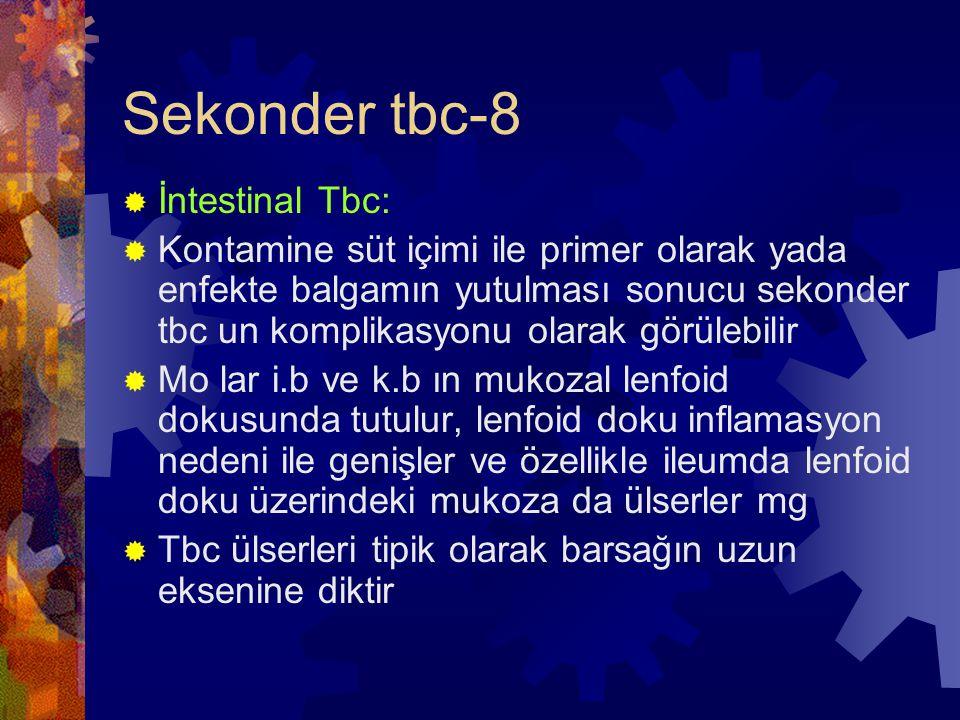 Sekonder tbc-8 İntestinal Tbc: