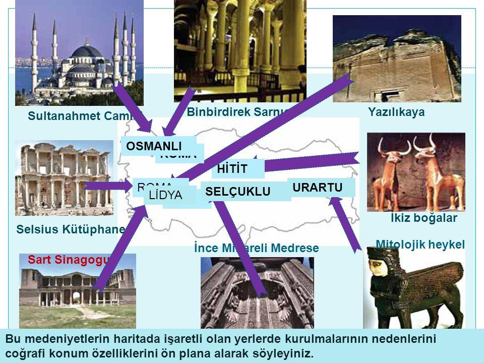 Binbirdirek Sarnıcı Yazılıkaya. Sultanahmet Camisi. OSMANLI. ROMA. HİTİT. ROMA. URARTU. SELÇUKLU.