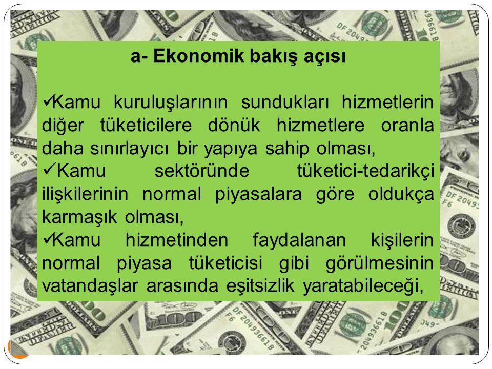 a- Ekonomik bakış açısı