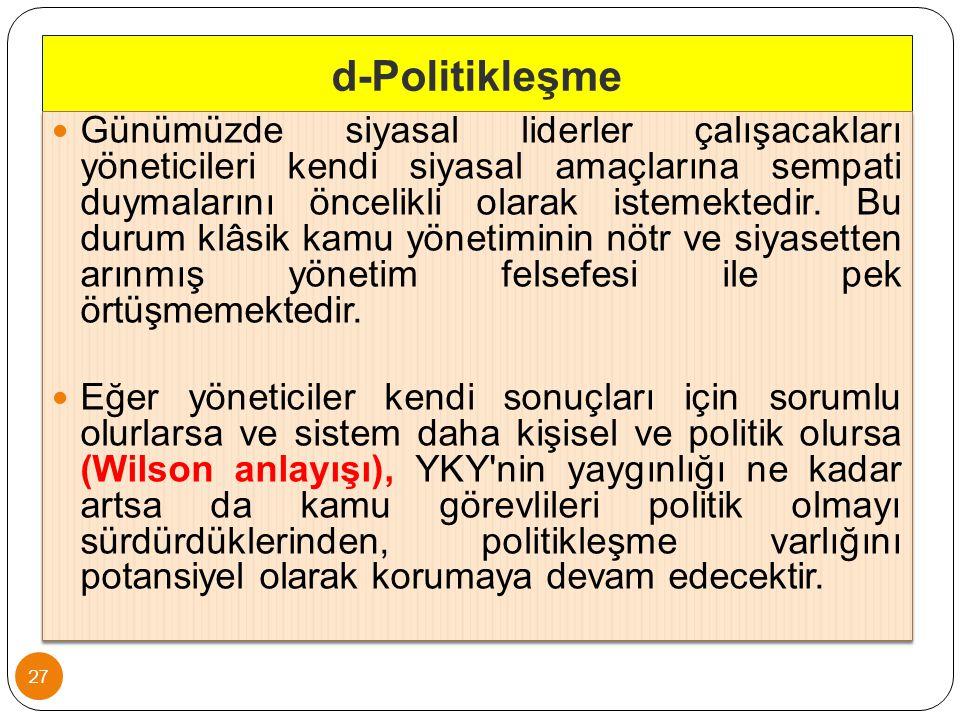 d-Politikleşme