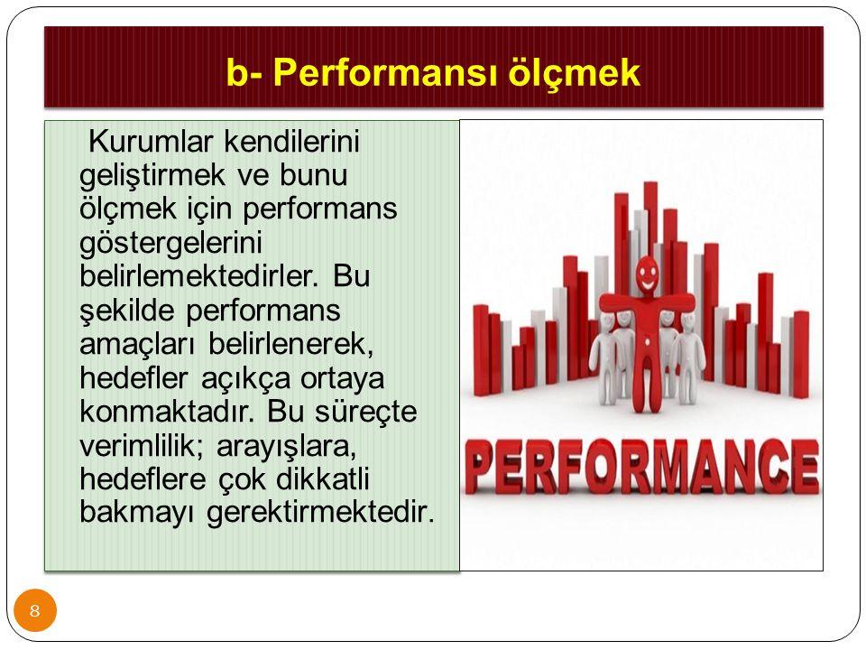 b- Performansı ölçmek