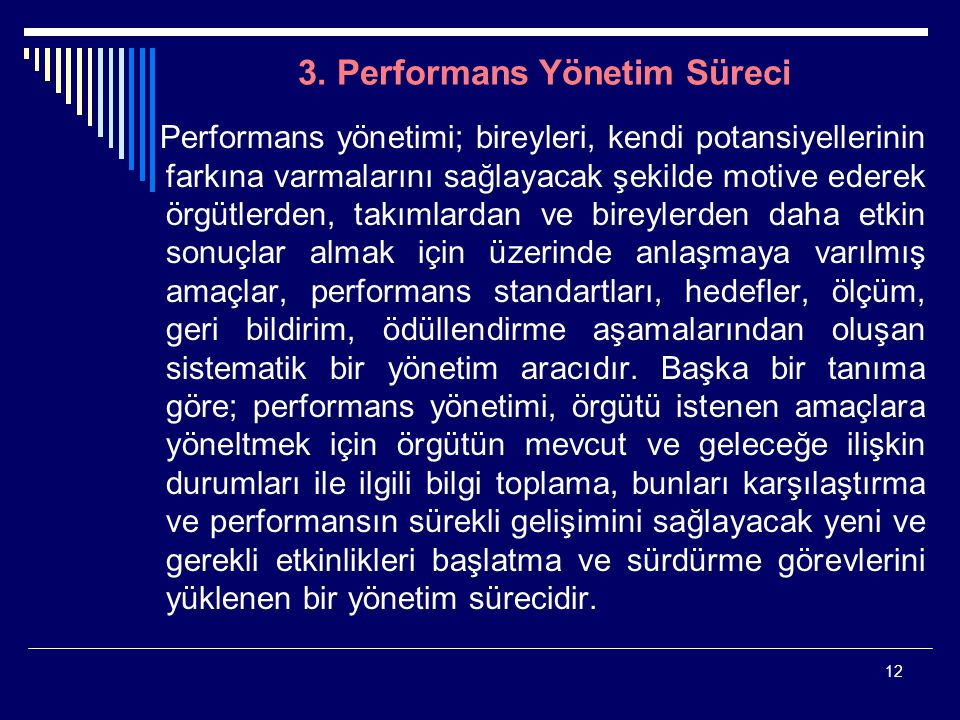 3. Performans Yönetim Süreci