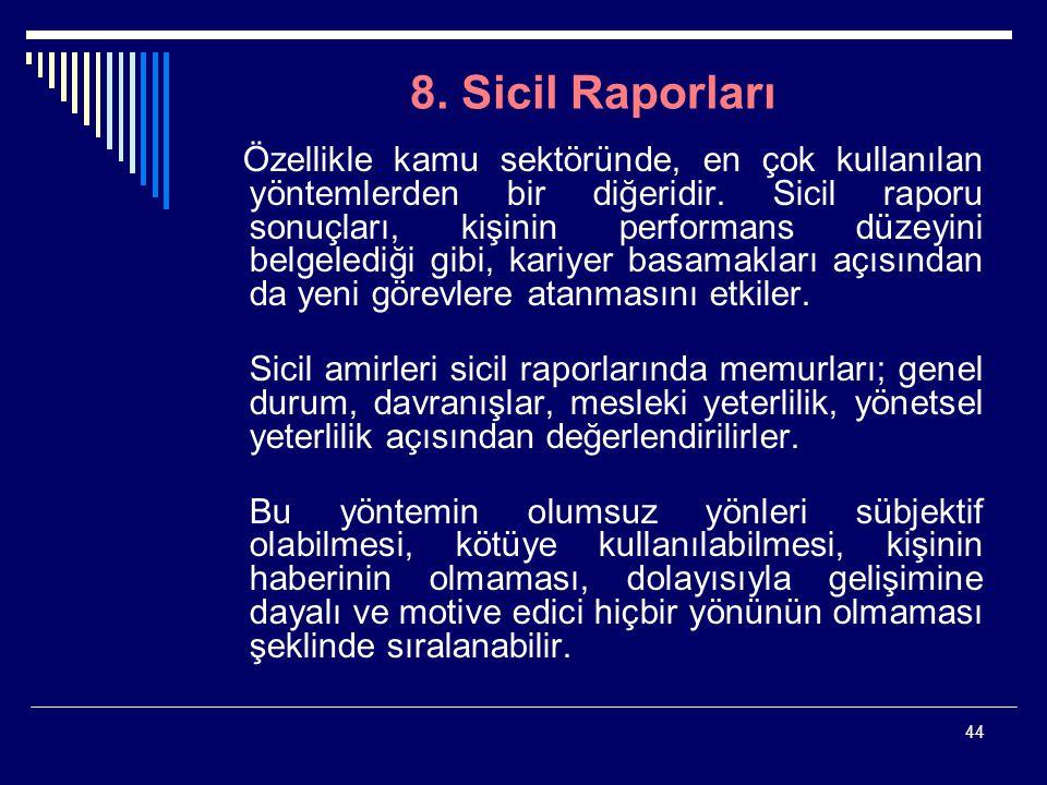 8. Sicil Raporları