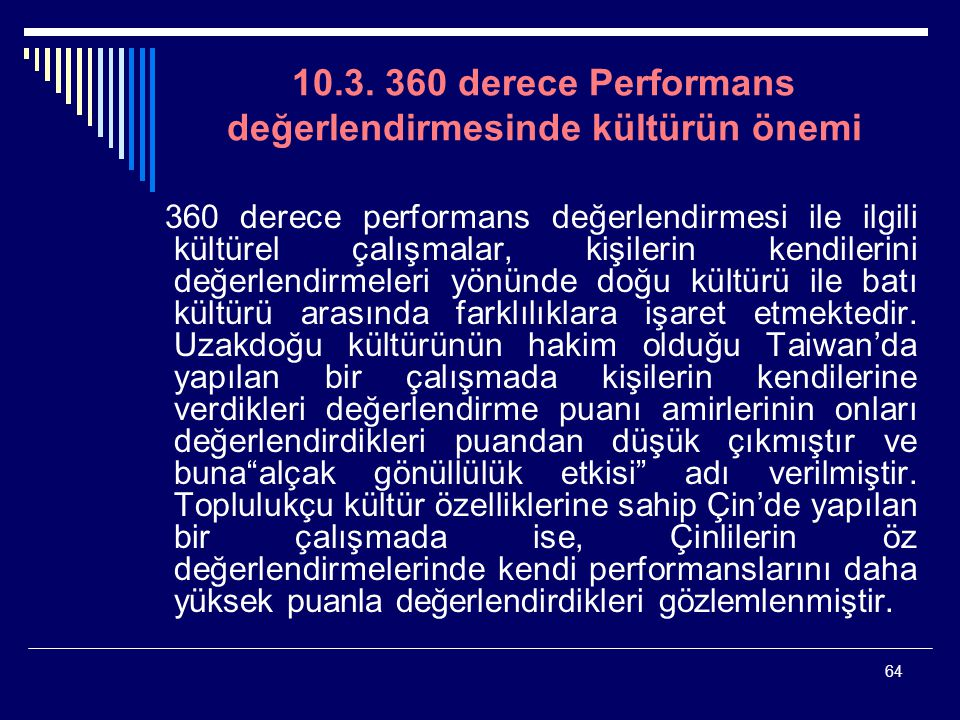 10.3. 360 derece Performans değerlendirmesinde kültürün önemi