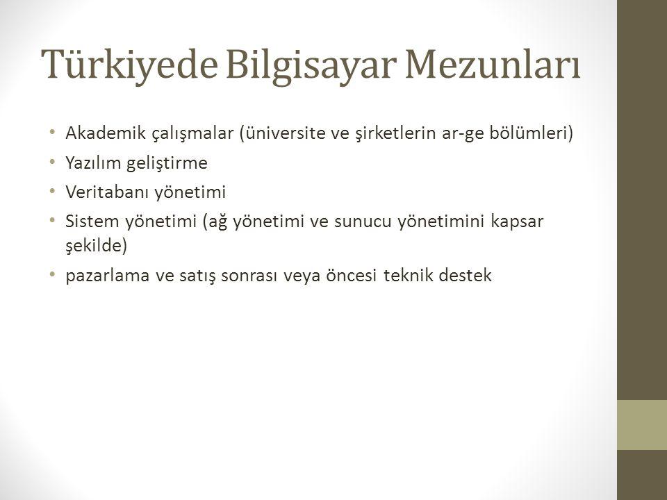 Türkiyede Bilgisayar Mezunları