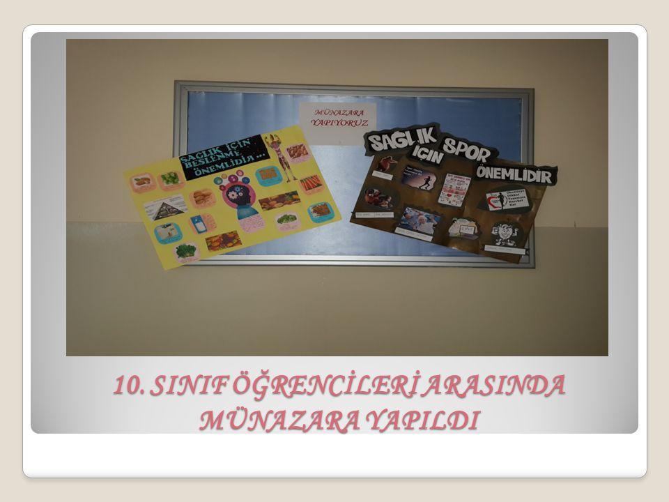 10. SINIF ÖĞRENCİLERİ ARASINDA MÜNAZARA YAPILDI