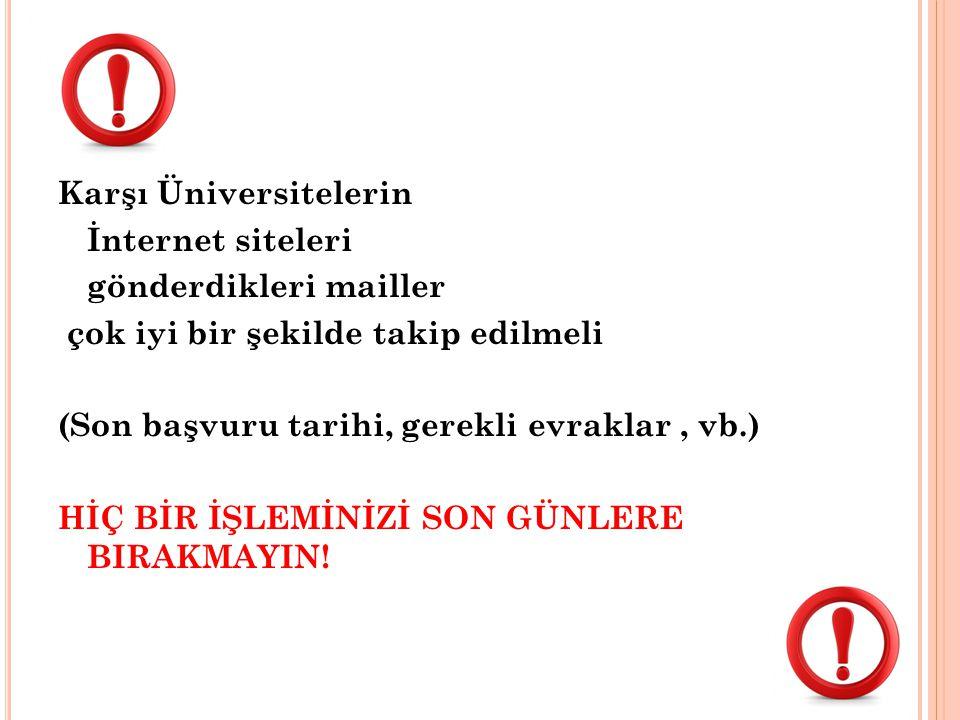 Karşı Üniversitelerin