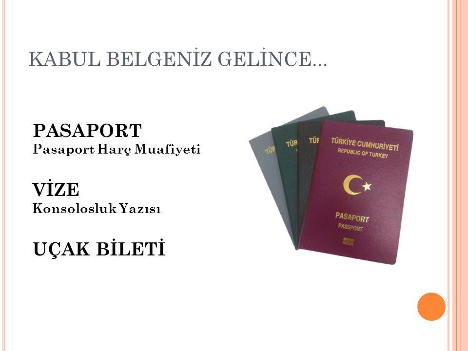 KABUL BELGENİZ GELİNCE...