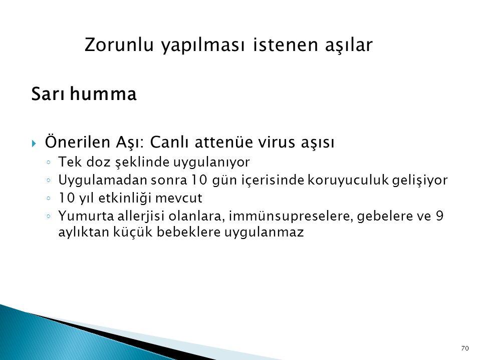 Zorunlu yapılması istenen aşılar