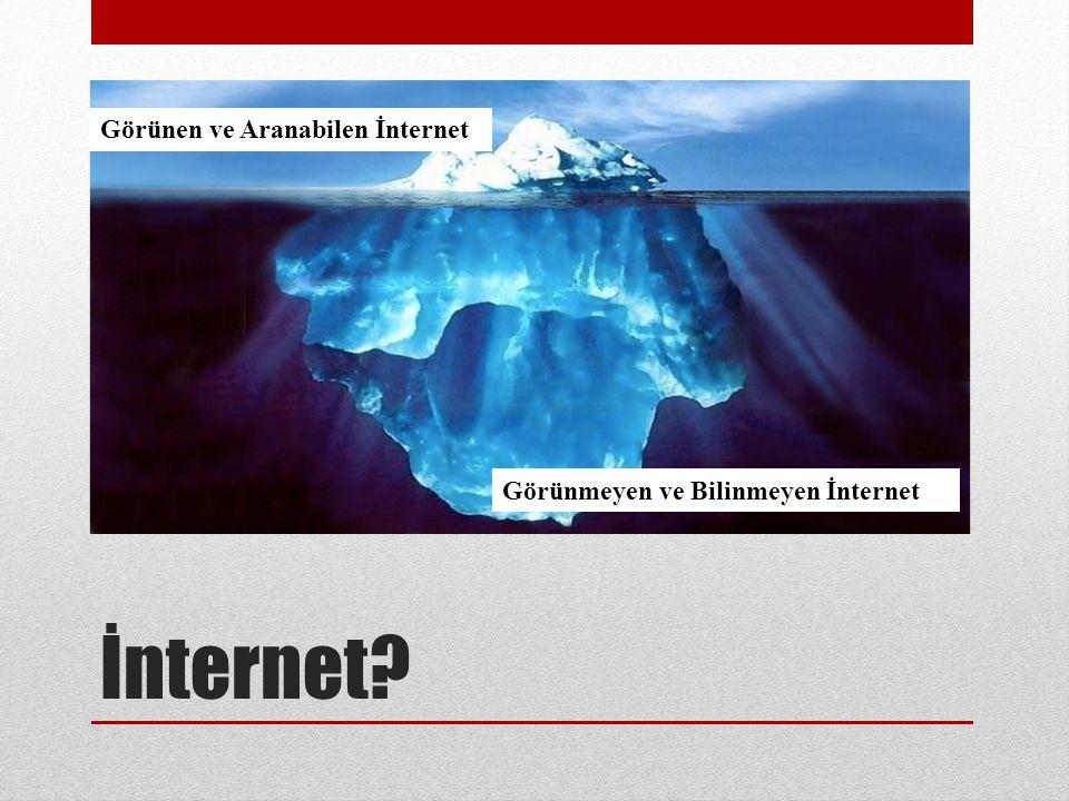 İnternet Görünen ve Aranabilen İnternet