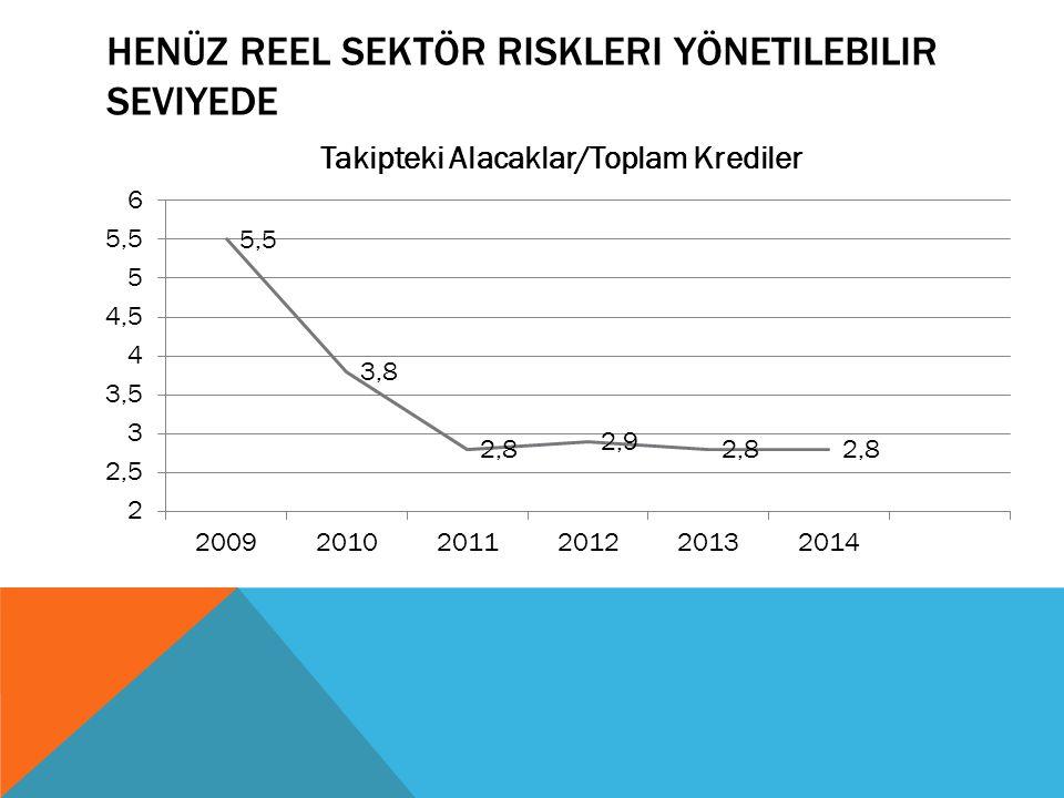 Henüz reel sektör riskleri yönetilebilir seviyede