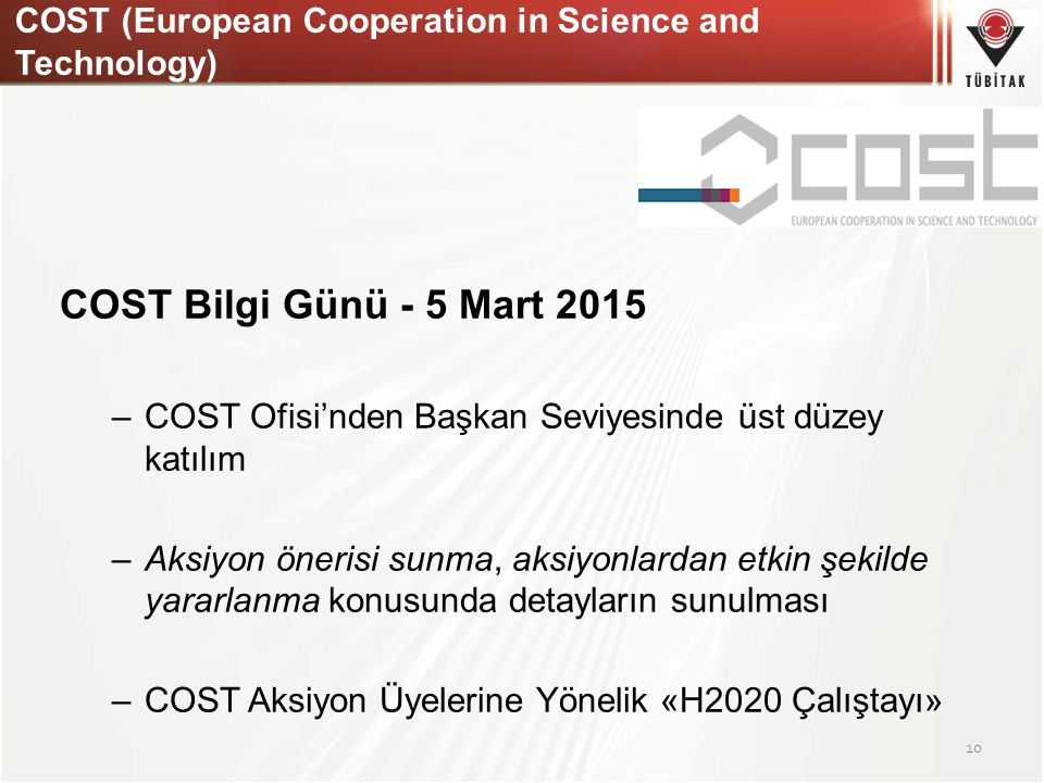 COST (European Cooperation in Science and Technology)