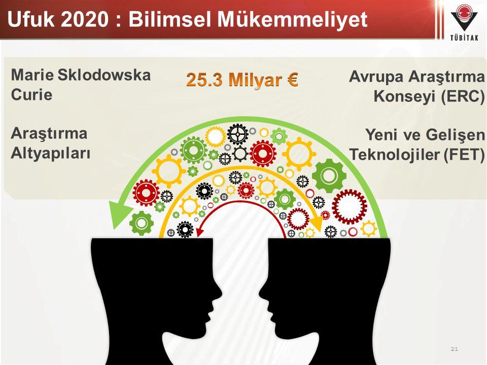 Ufuk 2020 : Bilimsel Mükemmeliyet