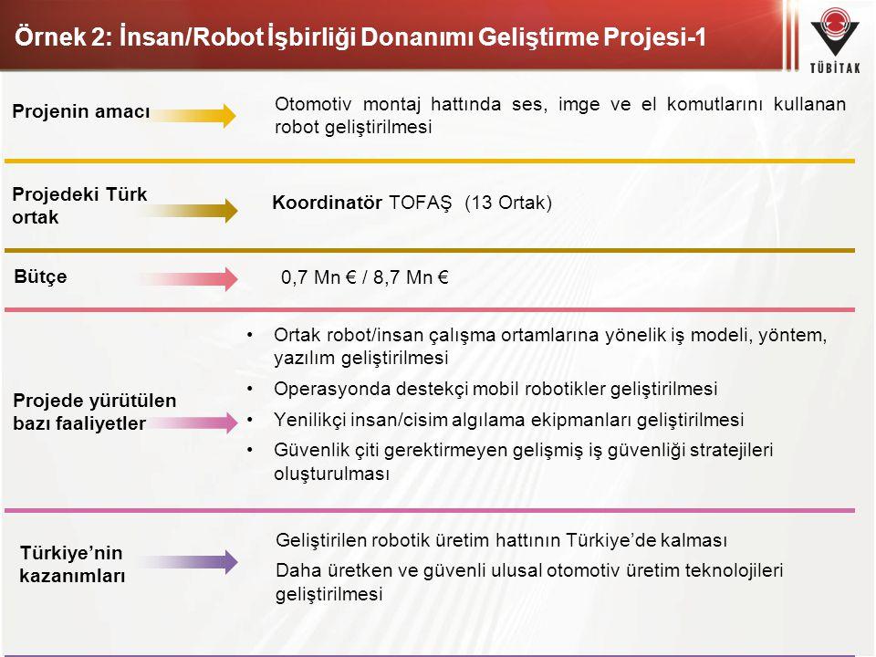 Örnek 2: İnsan/Robot İşbirliği Donanımı Geliştirme Projesi-1
