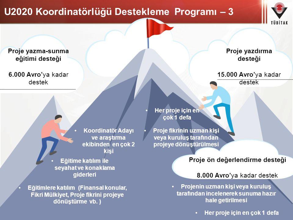 U2020 Koordinatörlüğü Destekleme Programı – 3